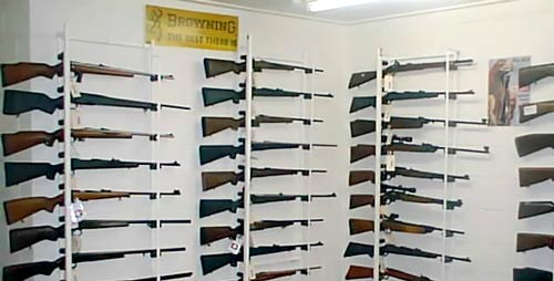 Owen Guns Rifle Display Rooms.