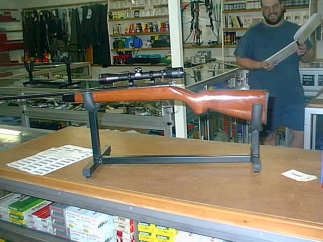 Owen Guns Shop, Norinco JW15 on the Cleaning Cradle.