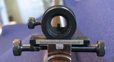 Whitworth Rifle front sight, Whitworth was big into micrometer adjustments.