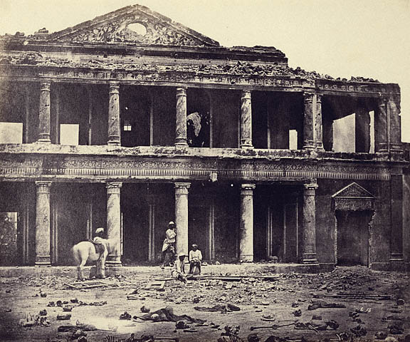 In the Indian Mutiny some building were fought over more than once. 2000 Sepoys were killed defending this building, due to wild dogs only the large bones were left.