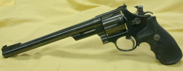 This Smith & Wesson .44 mag is something Dirty Harry would be proud of, but not a quick pointer.