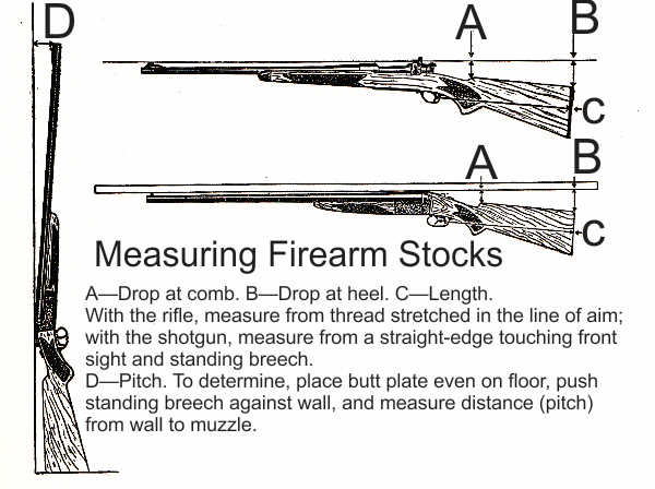 TINY Measuring Firearm Stocks