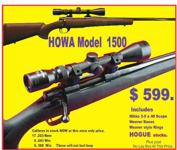 Howa $599. Tiny