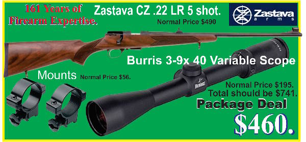 Zastava CZ .22 pagage deal.Tiny