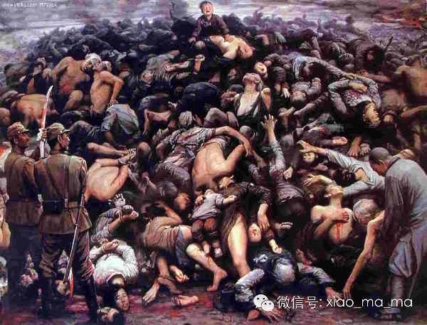 The Nanking Massacre, 300,000 butchered by Japanese Government troops.