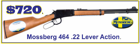 Mossberg Model 464 .22 Lever Action rifle. $720.