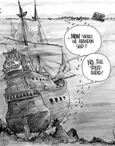 Registry Sinking Ship