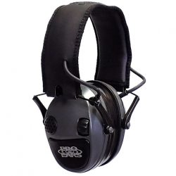 Pro Ear Silver 22db Electron Earmuffs Uses 2 AAA Stereo mic leather ear cups $ 137.00