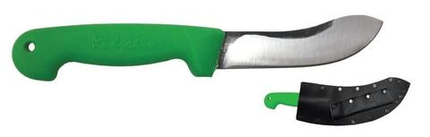 Svord 130mm Curved Kiwi skinner with bright green handle with sheath $ 55.40