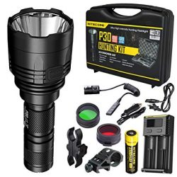 Nitecore P30 Torch hunting kit Torch, charger, batteries, red-green filters, rifle mount $ 245.00