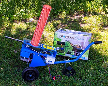 Promatic Electronic clay pigeon thrower 50 standard clays capacity on wheels $ 850.00