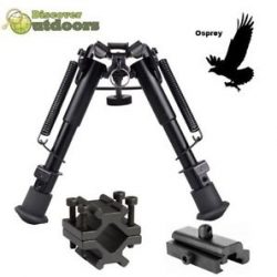 Osprey 6-12 Inch Bipod with QD Sling Picatinny Rail and Barrel Mount $ 29.00
