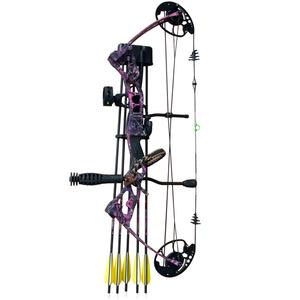 Vulture 55lb Right hand pink bow package includes compact bow, stabilizer, wrist strap, bow quiver, 5 pin sight and bag $ 485.00