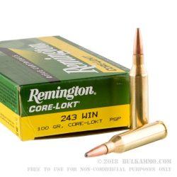 Remington 243 Win 100gr psp Pack of 20 $ 36.90