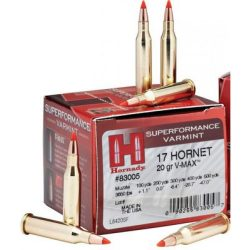 Hornady 17 Hornet 20gr Vmax Ammo Box of 25 3650 fps $ 37.90
