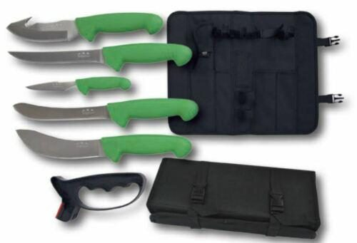 Ridgeline 5 Butchering - Hunting knives and drag through sharpener with storage roll $ 49.30