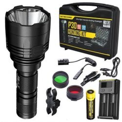 Nitecore P30 torch hunting kit Torch, charger, batteries, red-green filters, rifle mount $ 232.00
