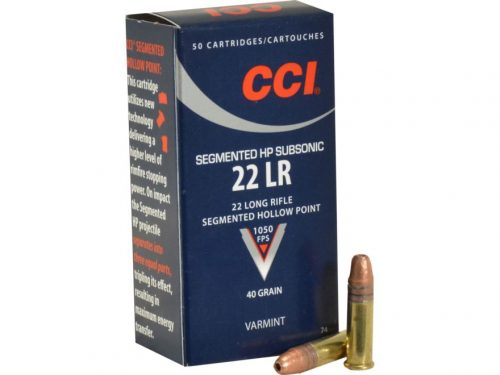 Fiocchi USA 22lr 40gr Lead round hollow point 1050fps Nominal velocity packet of 50 $ 10.20