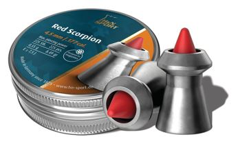 H&N .177 Plastic tipped 8.33gr Red scorpion pellets Tin of 225 $ 35.20