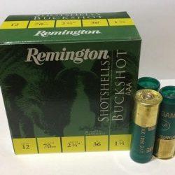 Remington 12ga AAA Buckshot 25 pellets 36 grams Box of 25 rounds $ 28.10