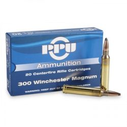 PPU 300 Win mag 168gr boat tail hollow point single flash hole brass cartridge ammo box of 20 $ 32.95