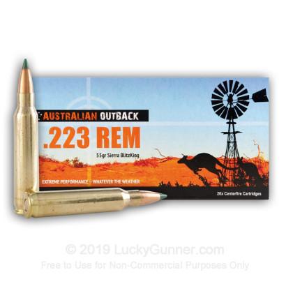 Australian Outback 223rem 55gr Sierra blitzking ammo Box of 20 $ 25.95