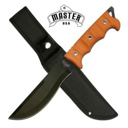 Mtech MU2002-OR straight spine recurve blade orange scales Lanyard loop synthetic sheath $ 29.85