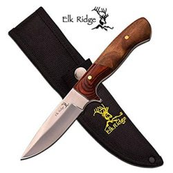Elk ridge 90mm fixed clip point skinner knife with synthetic pouch $ 48.40