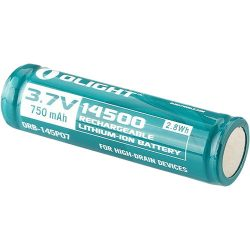 Olight 14500 3.7V 750mah rechargeable Li-Ion battery $ 10.50