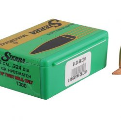 Sierra .224 69gr boat tail hollow point match king projectile Box of 100 $ 54.70