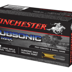 Winchester 22m 45gr Lead hollow point 1065fps subsonic ammo Box of 40 $ 14.10