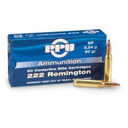 PPU 222Rem 50gr soft point ammo single flash hole brass $ 15.70