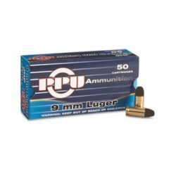 PPU 9X19 Luger 124gr Lead Round Nose Single Flash hole brass Box of 50 $ 32.50