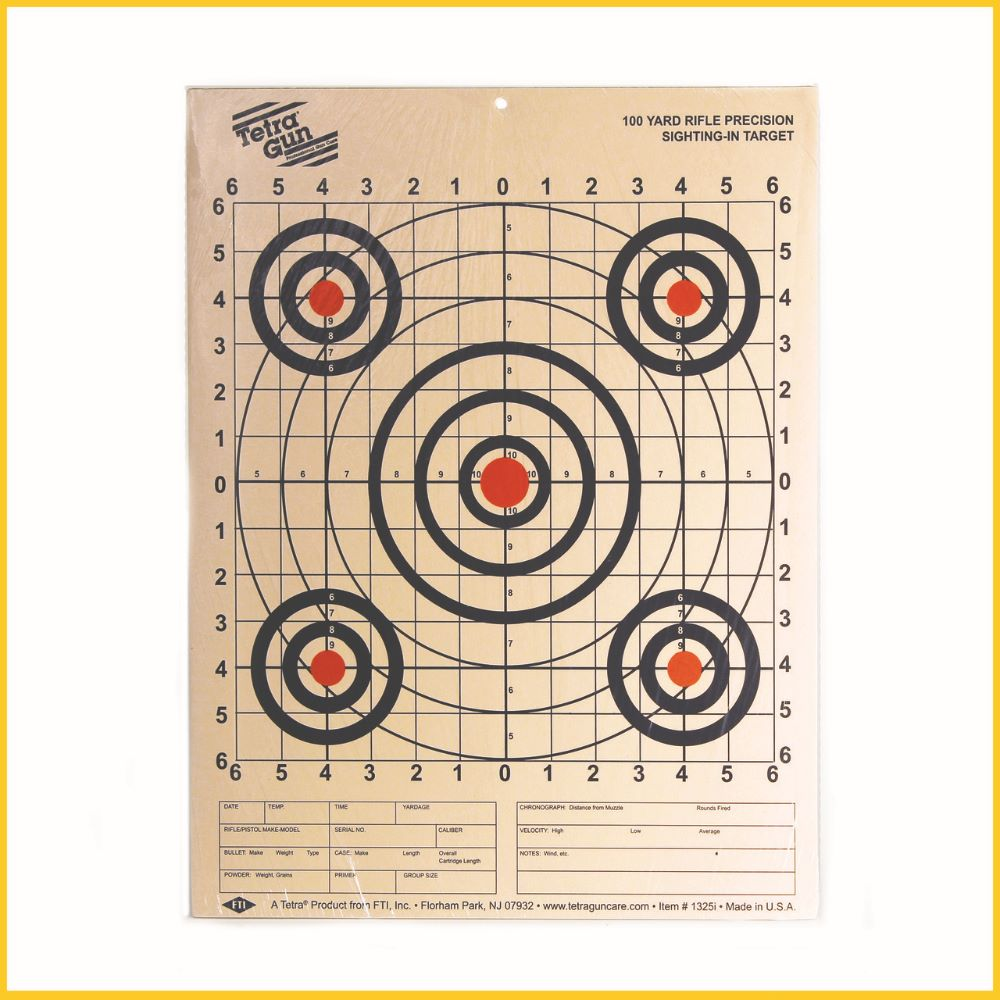 Tetra paper 100 yard precision rifle sight in target pack $ 8.15