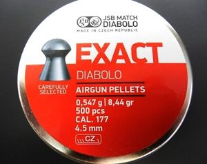 JSB By Cometa 177 Exact 8.44gr Round Nose Tin Of 500