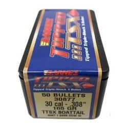 Barnes .308 165gr BT Tipped TSX Box of 50 $ 86.50