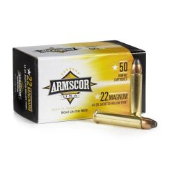 Armscor 22 Magnum 40gr Soft jacketed Hollow point 1838fps Box of 50 $ 20.00