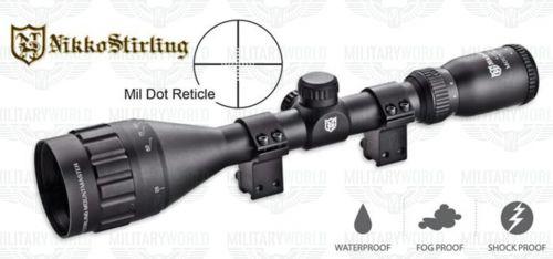 Nikko Stirling 4-12x50 AO Half Mil Dot mount master with rimfire rings $99.00