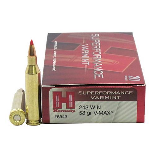 Hornady 243win 58gr V max ammo 3925fps Box of 20 $ 52.40