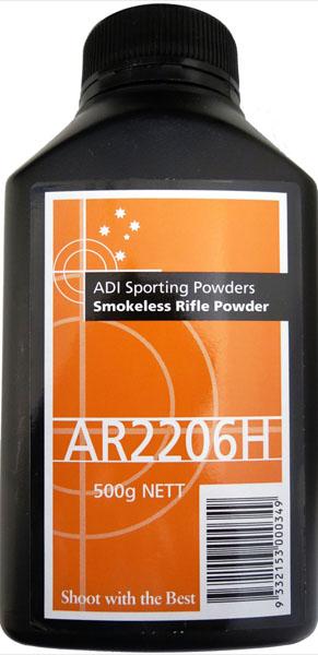 ADI AR2206H reloading powder 500 grams $ 55.00