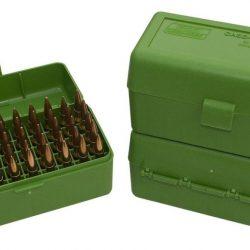 MTM Hinged 50 round medium sizzzw cartridge ammo box $ 10.60