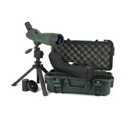 Hawke 51100 Vantage 20-60x60 spotting scope with hard carry case and bench height tri pod $ 350.00