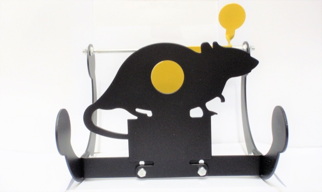 Alcock and Pierce Rocking Rat Shaped air rifle target steel $ 43.55