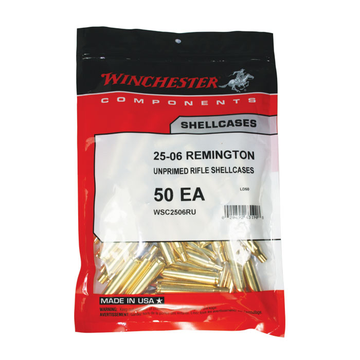 Winchester 25-06 un primed brass Bag of 50 $ 35.45