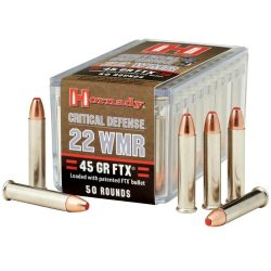 Hornady .22Mag 45gr FTX critical defense ammo Box of 50 $ 26.90