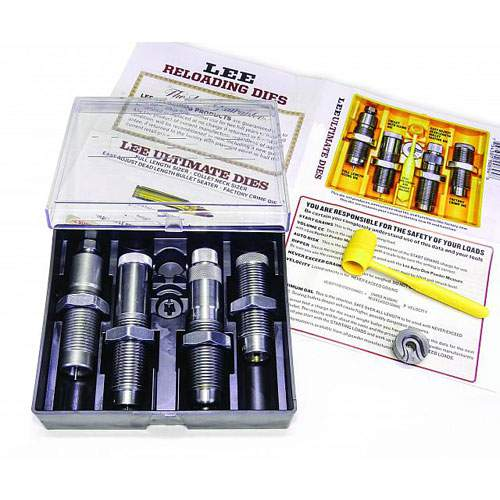 Lee 4 die ultimate die set 6.5 creedmoor full length and collet neck sizer bullet seating and factory crimp dies with shell holder $ 109.50