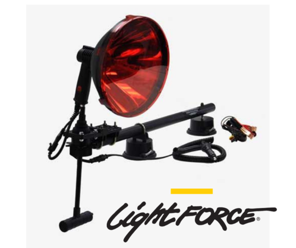 Night force 240mm Ultimate fox hunting kit including 240 blitz light, red filter, Cig cable and alligator clip cable and section base rail mount $ 410.00