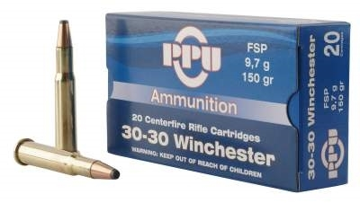 PPU 30-30 150gr flat soft point single flash hole boxer primed brass box of 20 rounds $ 28.85