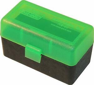 MTM 50 Round hinged 204 223 Ammo Box green $ 8.35