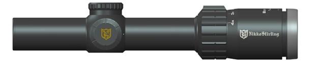 Nikko Stirling bore eater 1-4x24 illuminated 4 dot retical 30mm tube .5moa capped adjustment $ 388.00